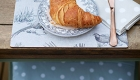 Luxury Log Cabin - Breakfast with croissant